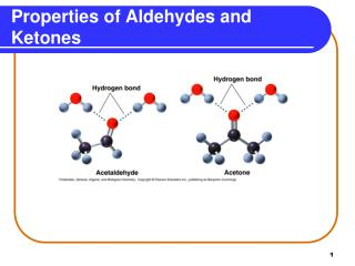 Properties of Aldehydes and Ketones
