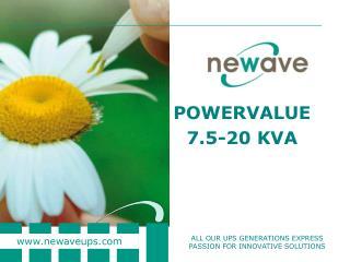 POWERVALUE  7.5-20 KVA