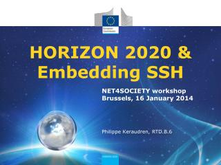 HORIZON 2020 &  Embedding SSH