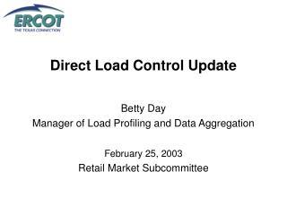 Direct Load Control Update