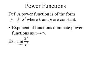 Power Functions