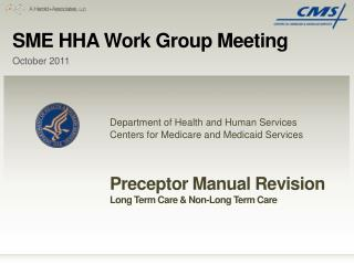 SME HHA Work Group Meeting