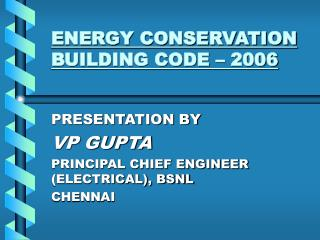 ENERGY CONSERVATION BUILDING CODE – 2006