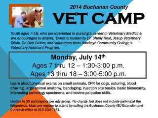 2014 Buchanan County VET CAMP