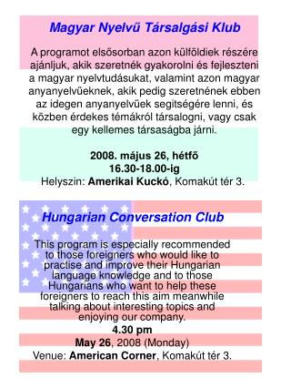 Hungarian Conversation Club