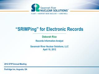 """SRIMPing"" for Electronic Records"
