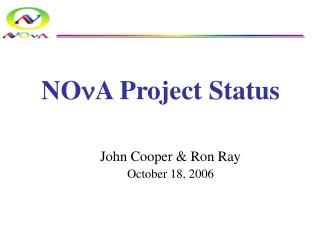 NO n A Project Status