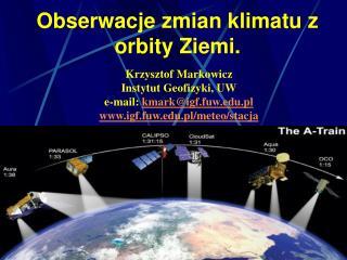 Obserwacje zmian klimatu z orbity Ziemi.