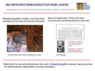 MID-INFRARED SEMICONDUCTOR WGM LASERS