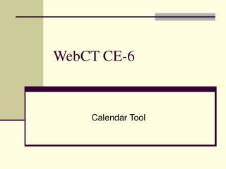 WebCT CE-6