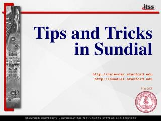 Tips and Tricks in Sundial