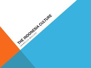The Indonesia culture