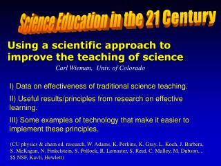 Science Education in the 21 Century