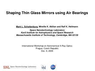 Shaping Thin Glass Mirrors using Air Bearings