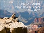 IHS CIO Update