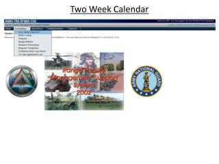 Two Week Calendar