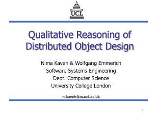 Qualitative Reasoning of Distributed Object Design