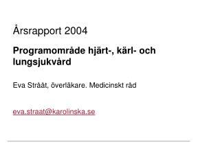 Årsrapport 2004