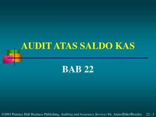 AUDIT ATAS SALDO KAS