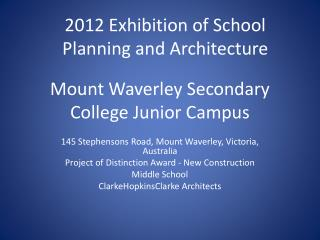 Mount Waverley Secondary College Junior Campus