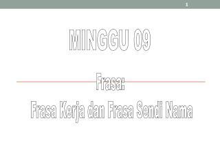 MINGGU 09