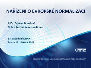 Nařízení o Evropské normalizaci