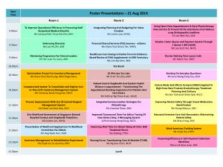 Poster Presentation Schedule - SHM 2014