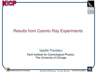 Results from Cosmic-Ray Experiments