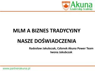 Radosław Jakubczak, Członek Akuna Power Team  Iwona Jakubczak