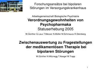 Forschungsansätze bei bipolaren Störungen im Versorgungskrankenhaus