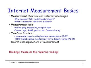 Internet Measurement Basics