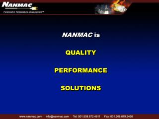 NANMAC is  QUALITY  PERFORMANCE  SOLUTIONS