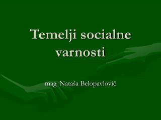 Temelji socialne varnosti