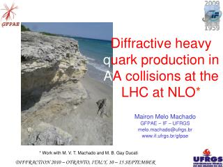 Diffractive heavy  q uark production in  A A collisions at the LHC at NLO *