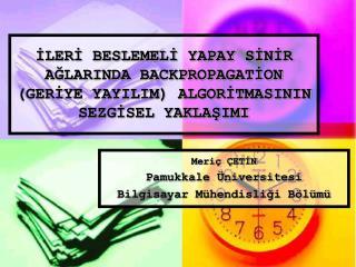 Meriç ÇETİN Pamukkale Üniversitesi Bilgisayar Mühendisliği Bölümü