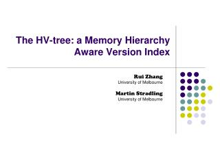 The HV-tree: a Memory Hierarchy Aware Version Index