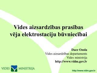 Vides aizsardzības prasības vēja elektrostaciju būvniecībai