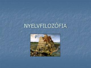NYELVFILOZÓFIA
