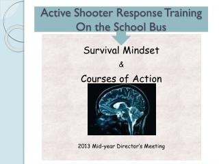Active  Shooter Response Training On the School Bus