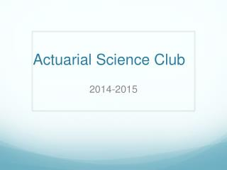 Actuarial Science Club