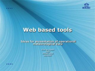 Web based tools