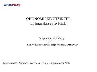 Diagrammer til innlegg  av    Konsernøkonom Nils Terje Furunes, DnB NOR