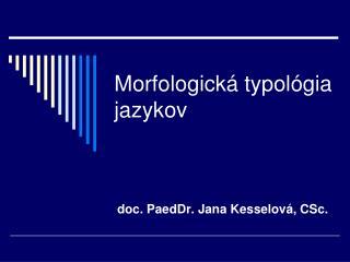 Morfologická typológia jazykov