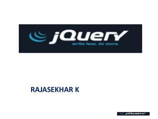 Rajasekhar K