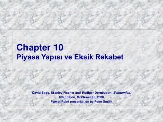 Chapter 10 Piyasa Yapısı ve Eksik Rekabet