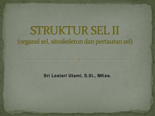 STRUKTUR SEL II  (organel sel, sitoskeleton dan pertautan sel)