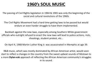 1960's SOUL MUSIC