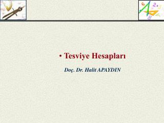 Doç. Dr. Halit APAYDIN