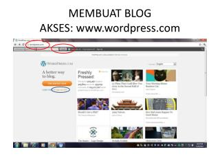 MEMBUAT BLOG AKSES: wordpress