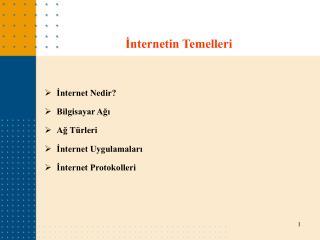 İnternetin Temelleri
